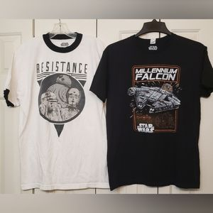 Two Star Wars Graphic Tees L